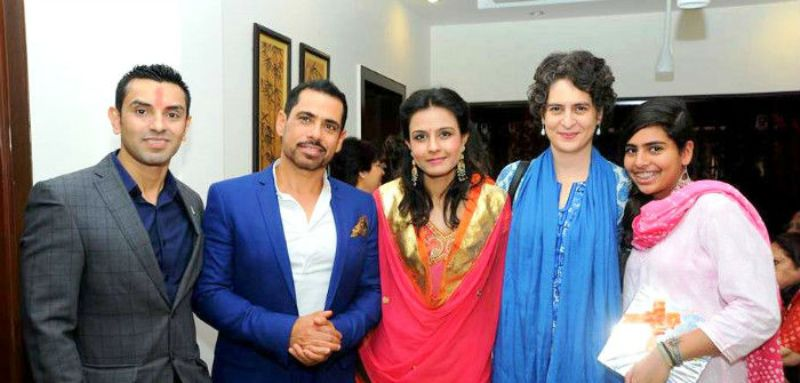 Monicka Vadera with Robert Vadra, Tehseen, and Priyanka Gandhi