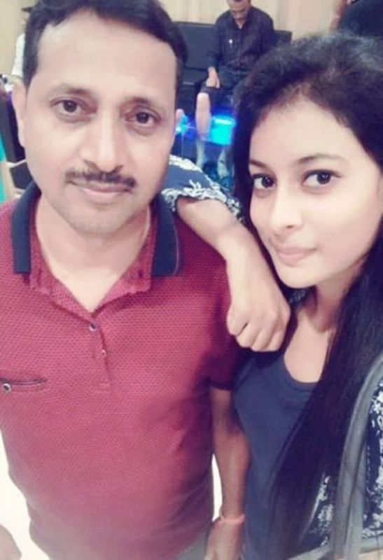Nidhi Kumari Prasad with Her Father