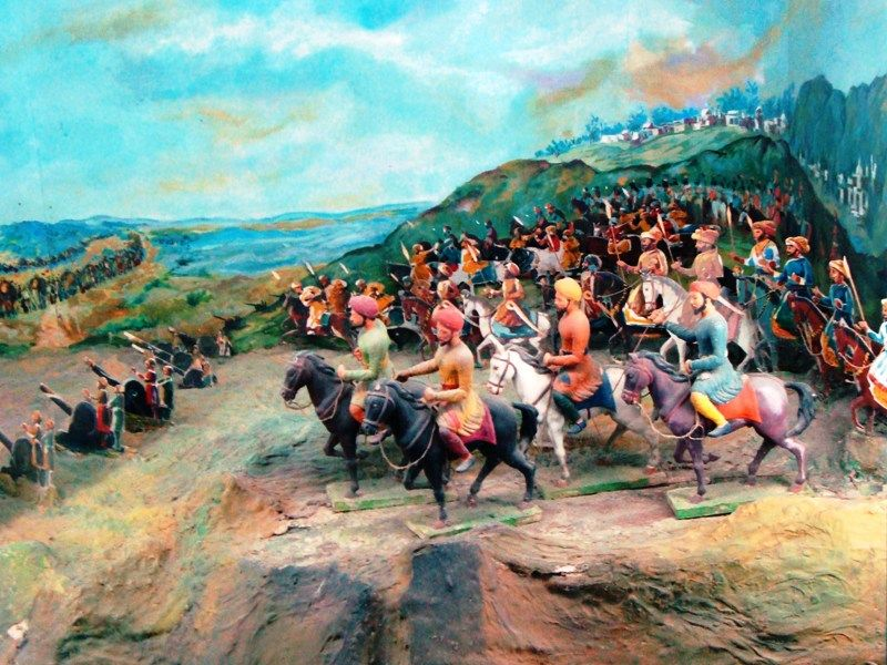 A Picture Depicting the Third Battle of Panipat