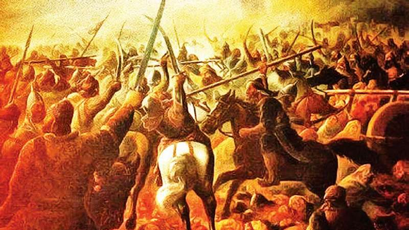 Picture Depicting the Third Battle of Panipat