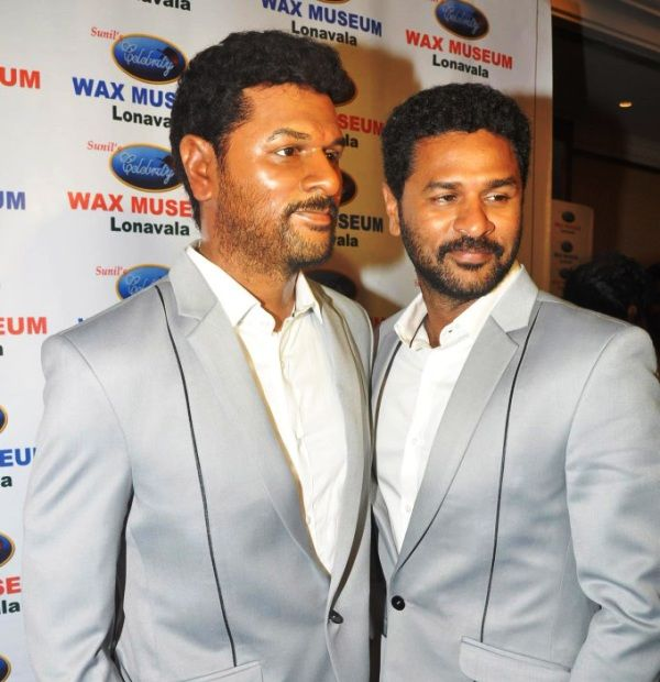 Prabhu Deva Posing with His Wax Statue