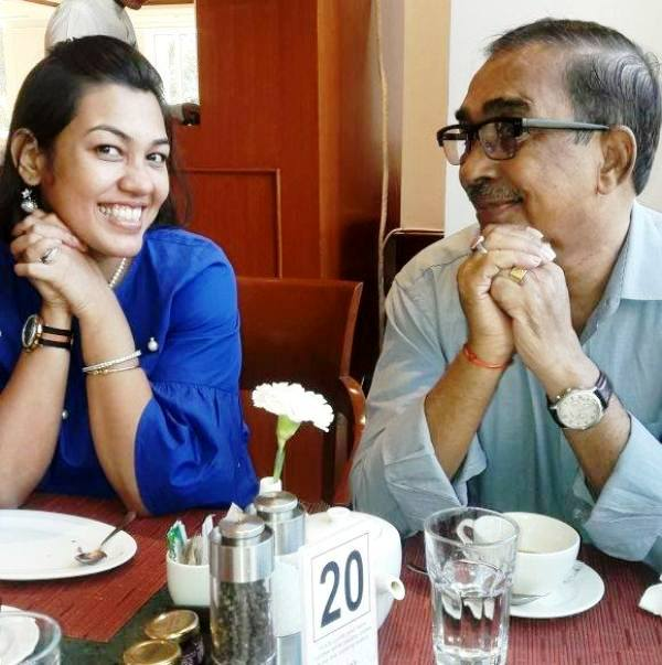 Purnota Dutta Bahl with Her Father