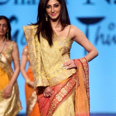 Reyhna Malhotra walking the ramp for a fundraising show in Mumbai