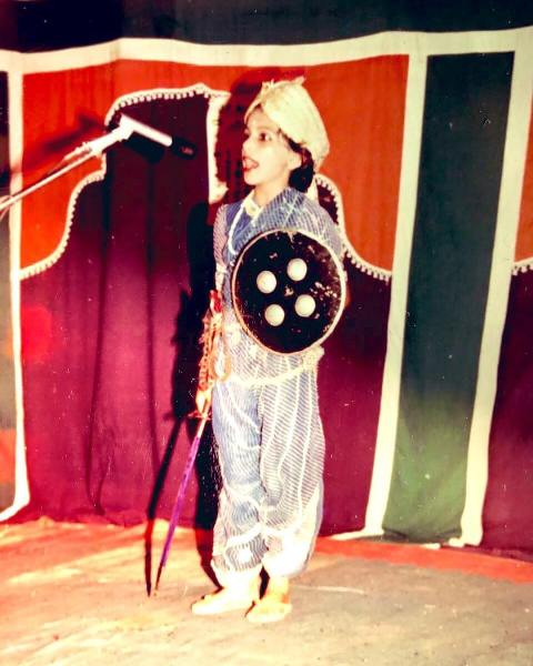 Richa Anirudh during a fancy dress competition