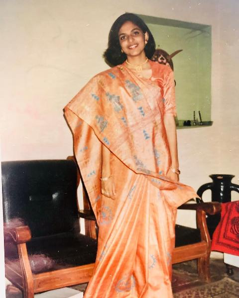 Richa Anirudh in her college days
