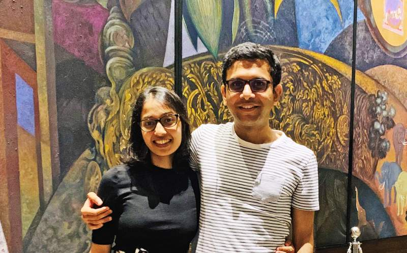 Rohan Murty with Aparna Krishnan