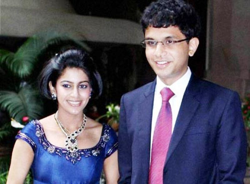 Rohan Murty with Lakshmi Venu