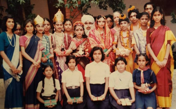 Sakshi Tanwar in her school days