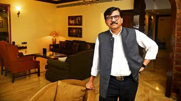 Sanjay Raut in his house