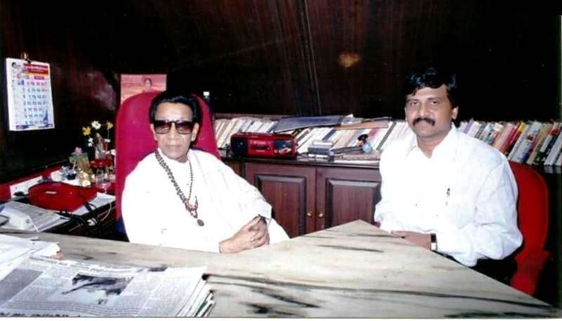 Sanjay Raut with Bal Thackeray