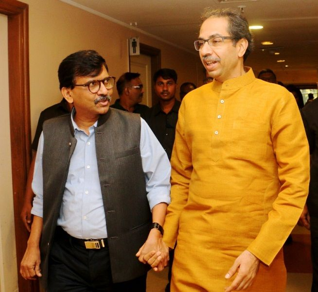 Sanjay Raut with Uddhav Thackeray
