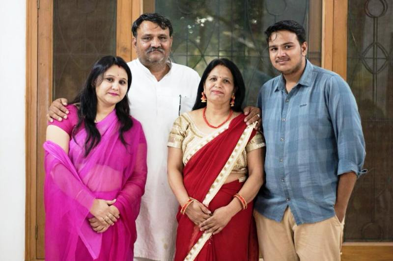 Shyam Sunder Paliwal with His Family