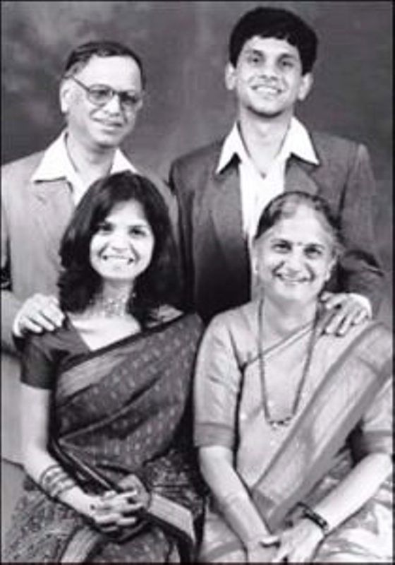 Sudha Murthy with Her Family