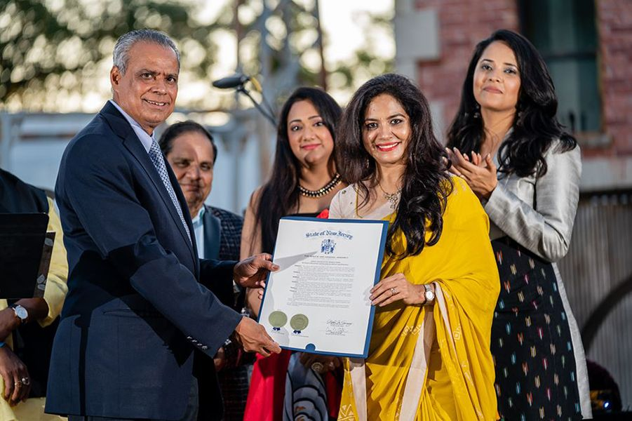 Sunitha Upadrashta New Jersey state recognition award