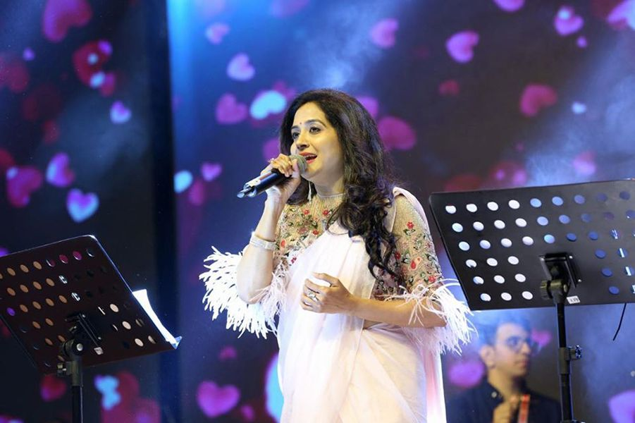 Sunitha Upadrashta during one of her concerts