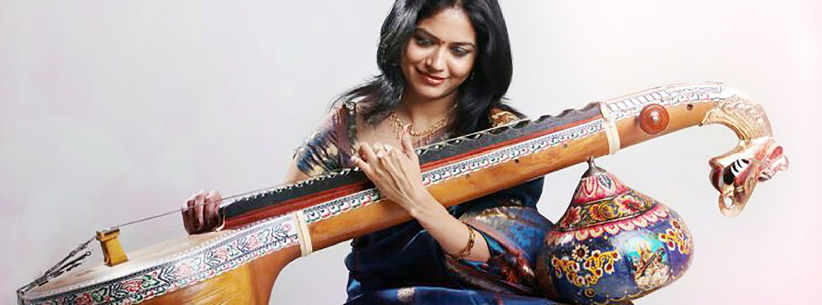 Sunitha Upadrashta playing Veena