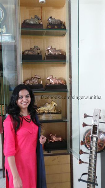 Sunitha Upadrashta with her Nandi Awards