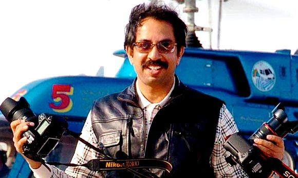 Uddhav Thackeray during his younger days as a professional photographer