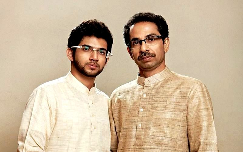 Uddhav Thackeray with Aditya Thackeray