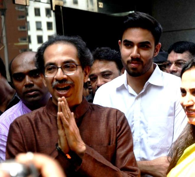 Uddhav Thackeray with Tejas Thackeray