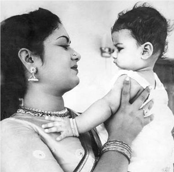 Vijaya Chamundeshwari with her mother