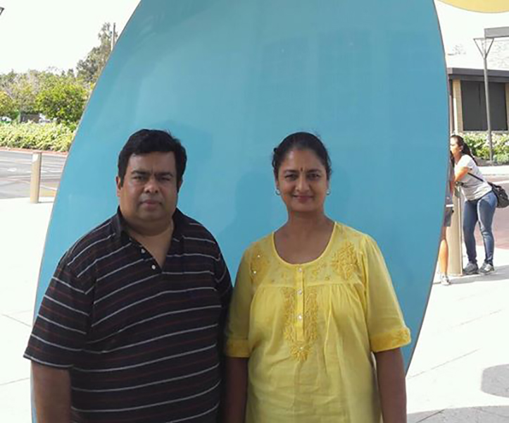 Vijaya Chamundeswari with her Brother
