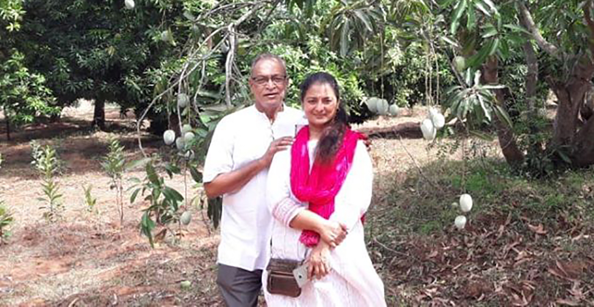 Vijaya Chamundeswari with her husband