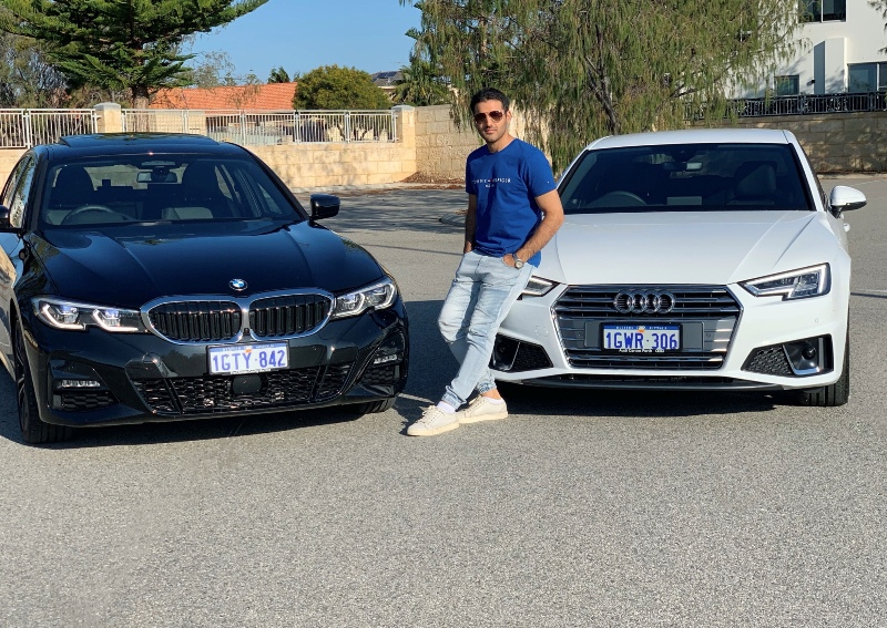 Yusof Mutahar Posing with His Cars