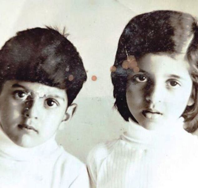 A Childhood Picture of Farhan Akhtar and Zoya Akhtar