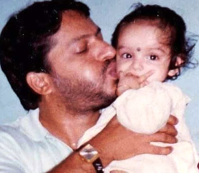A Childhood Picture of Lisa Mishra with Her Father