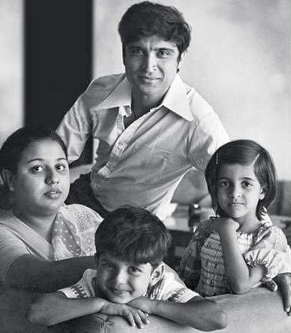 An Old Picture of Farhan with his Father, Mother, and Sister