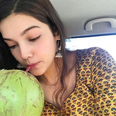 Ashrita Shetty drinking Coconut Water