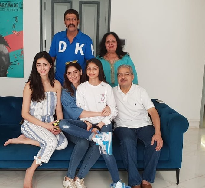 Bhavana Pandey with her parents, husband, and kids