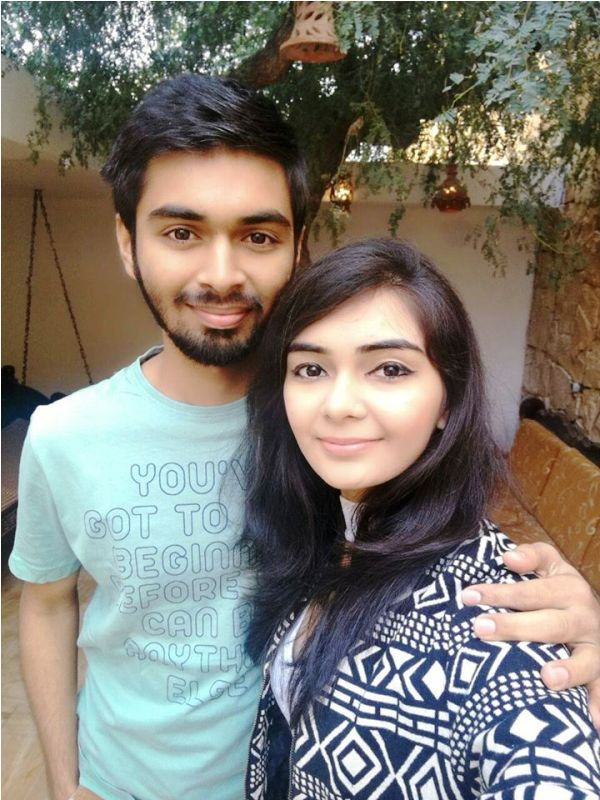 Dhruvi Jani with Her Brother- Rahul Jani