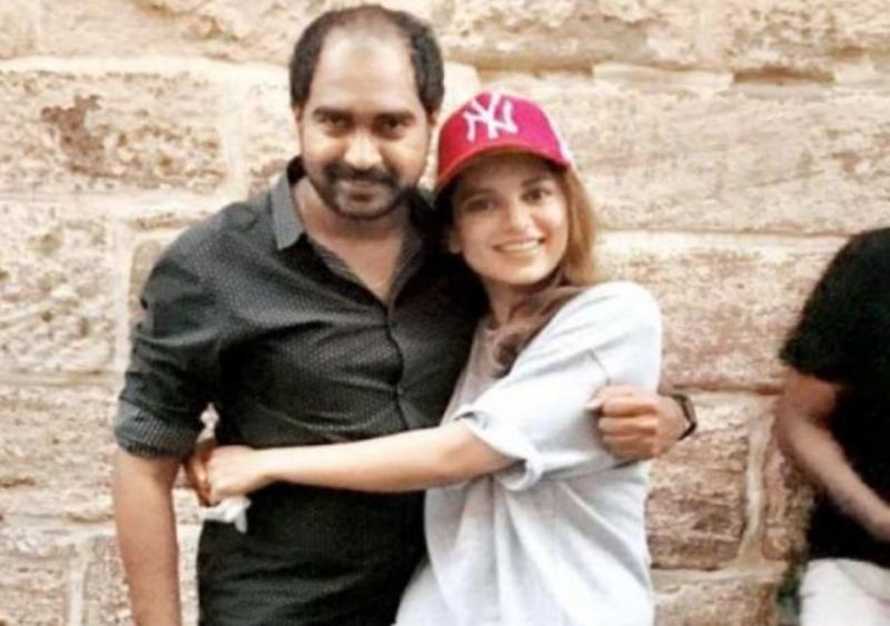 Director Krish with Kangana Ranaut