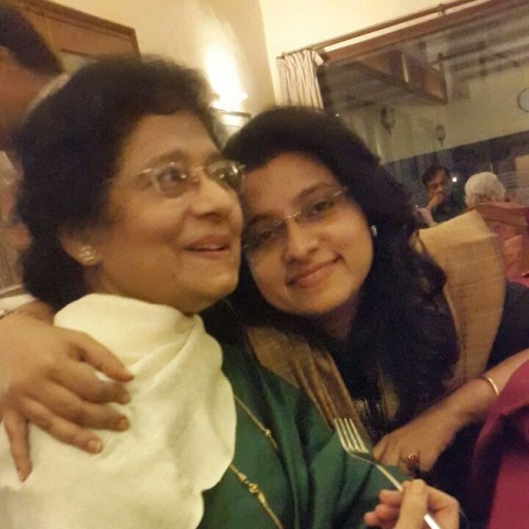 Dona Ganguly with her mother