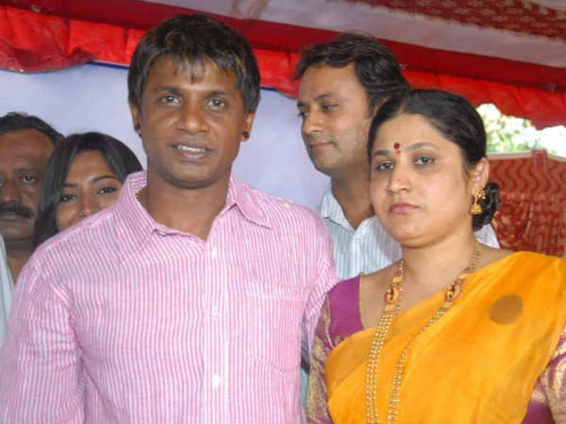 Duniya Vijay with his ex-wife, Nagarathna Vijay