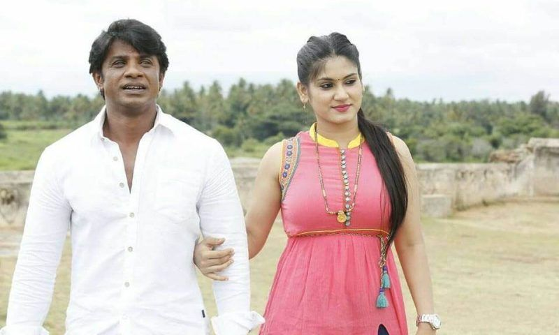 Duniya Vijay with his wife Keerthy Pattadi
