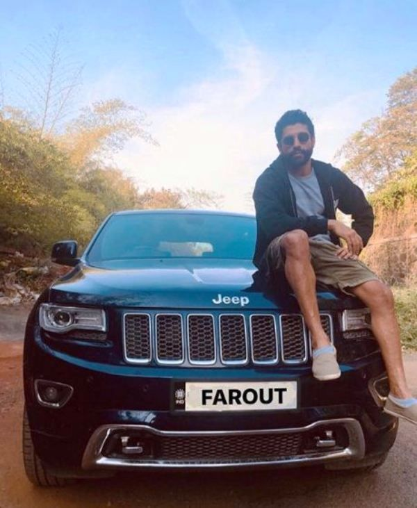Farhan Akhtar Posing with His Car