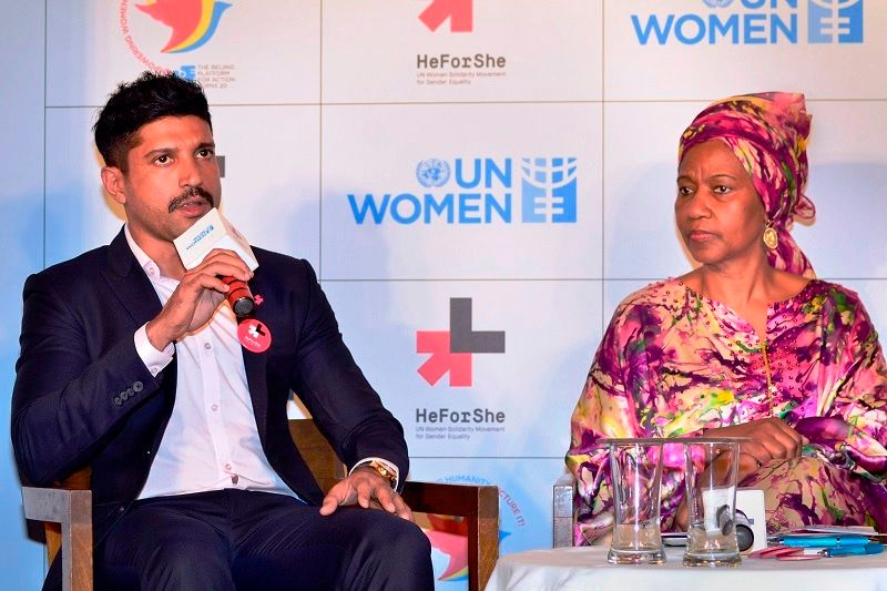 Farhan Akhtar at an Event of the UN Women's Goodwill