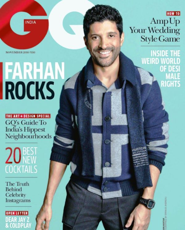Farhan Akhtar on the Cover of GQ Magazine