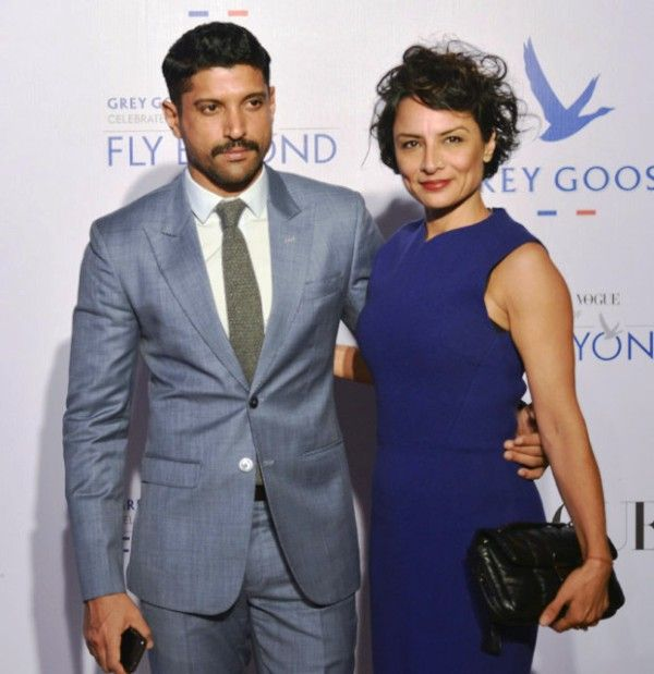 Farhan Akhtar with His Wife- Adhuna Bhabani