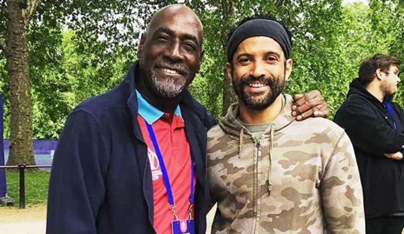 Farhan Akhtar with Vivian Richards
