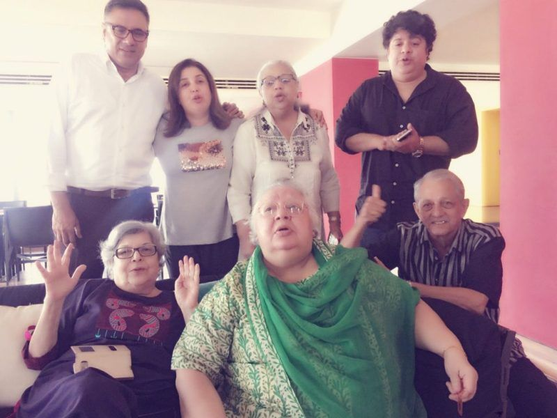 Farhan Akhtar's Aunt-Daisy Irani and His Cousins- Farah Khan and Sajid Khan