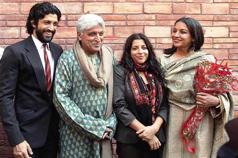 Farhan with his Father, Step-Mother, and Sister