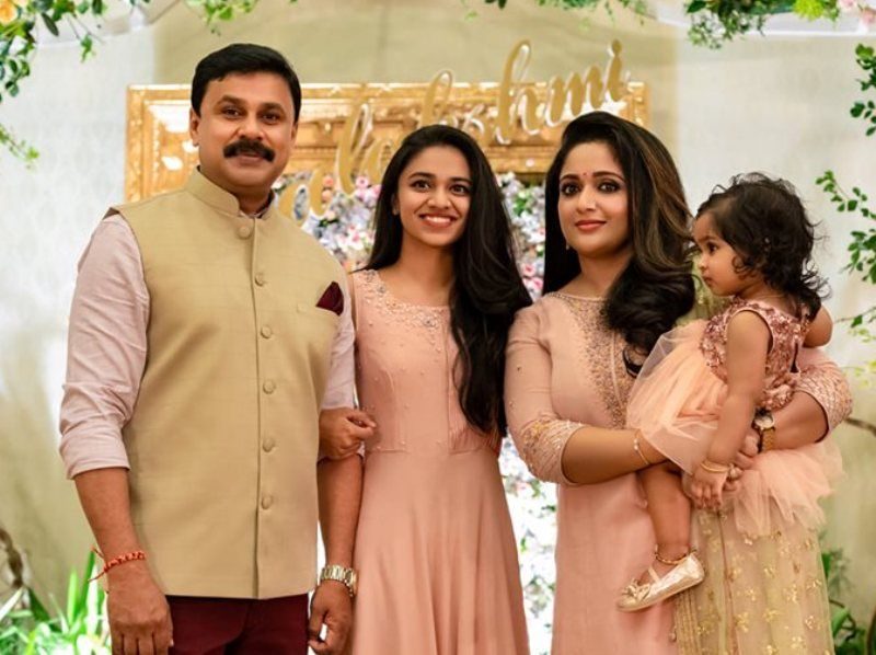 Kavya Madhavan with her Husband, Daughter and Step Daughter