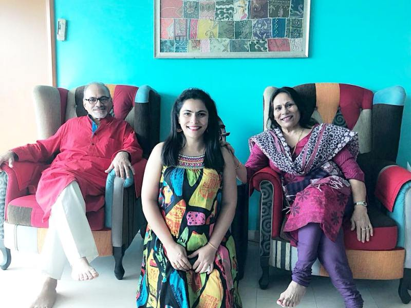 Maanvi Gagroo's Parents and Sister