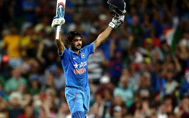 Manish Pandey playing for India