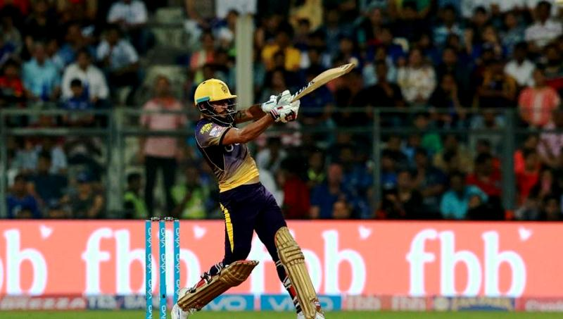 Manish Pandey playing for KKR