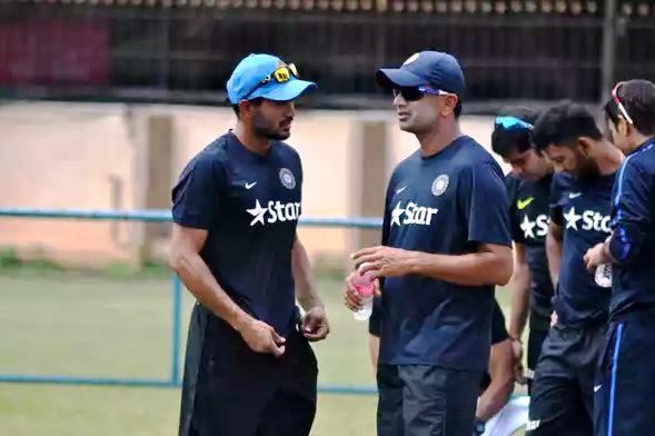Manish Pandey with Rahul Dravid